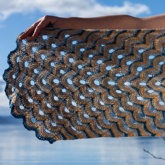 Fyrish Shawl by Emily K Williams in BFL